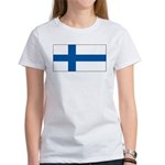 Finland Finish Blank Flag Women's T-Shirt