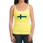 Finland Finish Blank Flag Jr. Spaghetti Tank