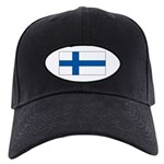 Finland Finish Blank Flag Black Cap