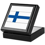 Finland Finish Blank Flag Keepsake Box