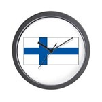 Finland Finish Blank Flag Wall Clock