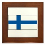 Finland Finish Blank Flag Framed Tile