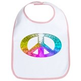 Peace Rainbow Splash Bib