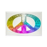 Peace Rainbow Splash Rectangle Magnet
