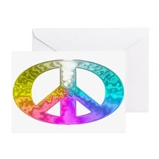 Peace Rainbow Splash Greeting Card