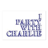 I Party With Charlie Postcards (Package of 8)