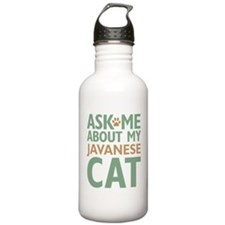 Javanese Cat Sports Water Bottle