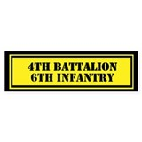 4th Battalion 6th Infantry Bumper Sticker
