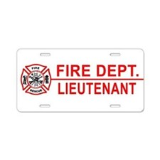 Fire Dept Lieutenant Aluminum License Plate