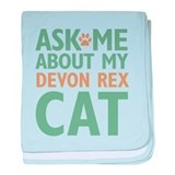 Devon Rex Cat baby blanket