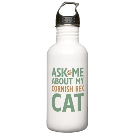 Cornish Rex Cat Stainless Water Bottle 1.0L