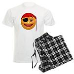 Pirate Smiley Face Men's Light Pajamas