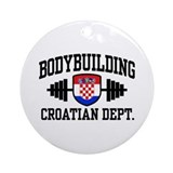 Croatian Bodybuilding Ornament (Round)