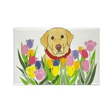 Yellow Lab Rectangle Magnet (100 pack)