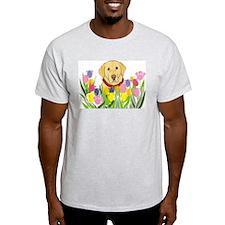 Yellow Lab Ash Grey T-Shirt