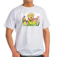 Yellow Lab Ash Grey T-Shirt