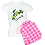 Geocacher Shamrocks Women's Light Pajamas