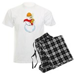 Snowman Chemist Men's Light Pajamas
