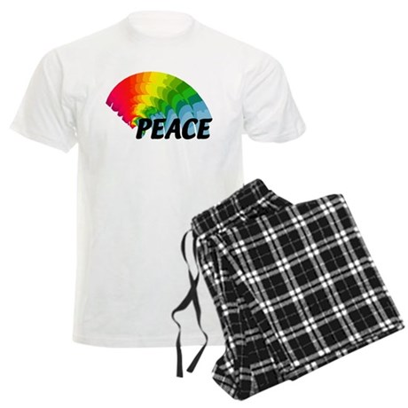 Rainbow Peace Men's Light Pajamas