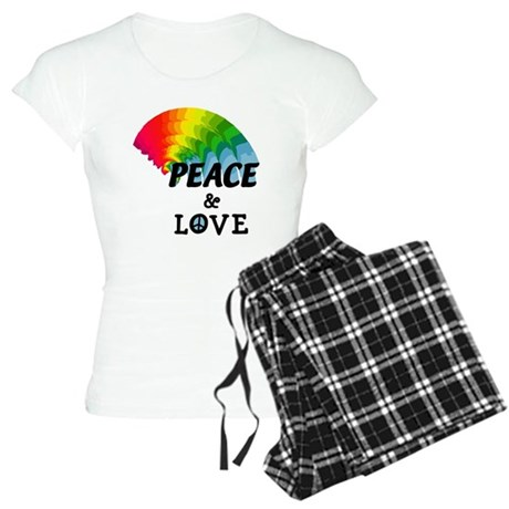 Rainbow Peace and Love Women's Light Pajamas