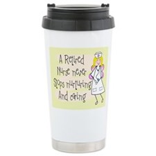 Retired Nurse Ceramic Travel Mug