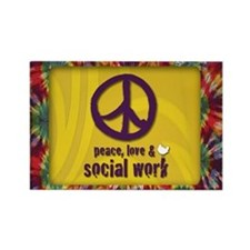 Peace, Love, & SW Rectangle Magnet 100 pk