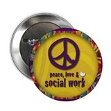 Peace, Love, &amp;amp; SW 2.25&amp;quot; Button (10 pack)