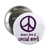 "Peace, Love, & SW 2.25"" Button 100 pk"