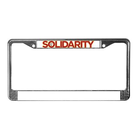 Solidarity License Plate Frame