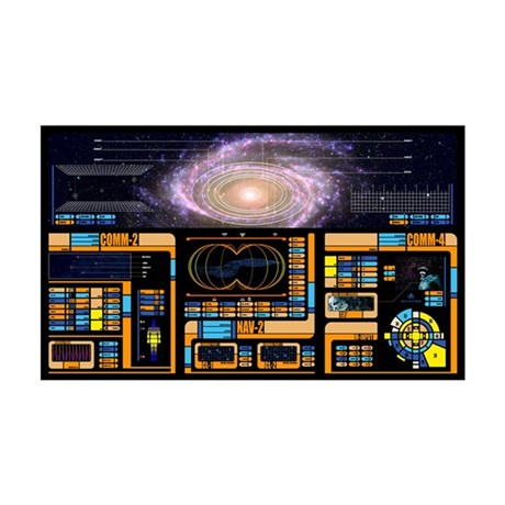Star Trek LCARS LARGE 38.5in x 24.5in Wall Peel