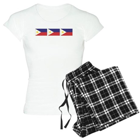 Philippine Flags Women's Light Pajamas
