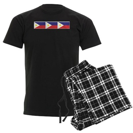 Philippine Flags Men's Dark Pajamas