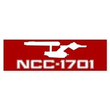 NCC-1701 (red) Bumper Sticker