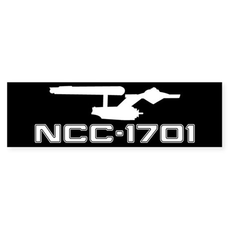 NCC-1701 (black) Sticker (Bumper 10 pk)
