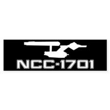 NCC-1701 (black) Bumper Sticker