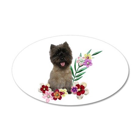 Cairn Terrier 20x12 Oval Wall Decal
