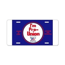 Pro Union Aluminum License Plate