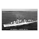 USS CHARLES J. BADGER Decal