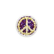 Flowers of Peace Mini Button