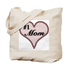 #1 Mom Heart Tote Bag