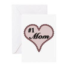 #1 Mom Heart Greeting Cards (Pk of 10)