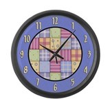 Patchwork Quilt Large Wall Clock