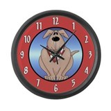 Dogs Large Wall Clock