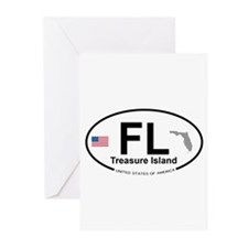 Florida City Greeting Cards (Pk of 20)