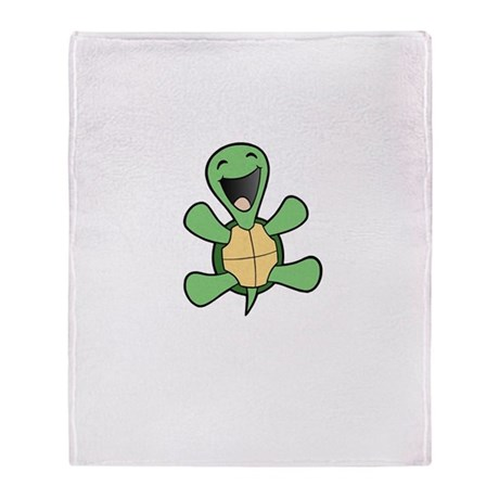 Skuzzo Happy Turtle Throw Blanket