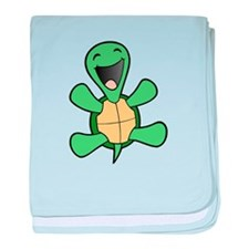 Skuzzo Happy Turtle baby blanket