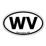 West Virginia Oval Decal