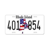 RI USA Aluminum License Plate