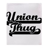 Union Thug Throw Blanket