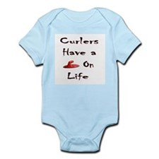 Curlers Have a Handle on Life Infant Creeper